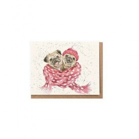 Miniture Cute Pug Blank Card