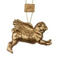 Stunning Gold Pug Christmas Decoration