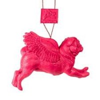 Stunning Pink Pug Christmas Decoration