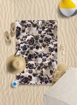 Microfibre Pug Beach Towel