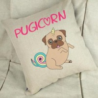 Pugicorn Cushion 40cm Cover