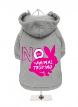 Say No To Animal Testing Fleece Lined Unisex Hoodie  (Available in 5 colours)