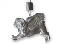 Stunning Silver Pug Christmas Decoration
