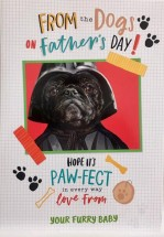Extra Large Pug Star Wars Fathers Day Card