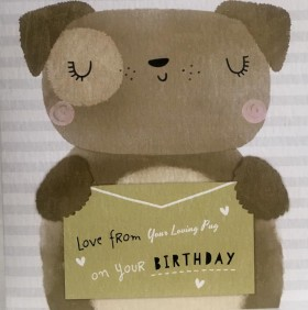 From Your loving Pug Birthday Card