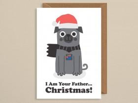 Star Wars Pug Christmas Card