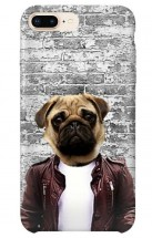 Hipster Pug iPhone Cover