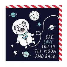 Love You To The Moon & Back Card By Gemma Correll