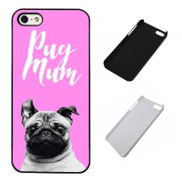 Cute Pug Mum iPhone Cover