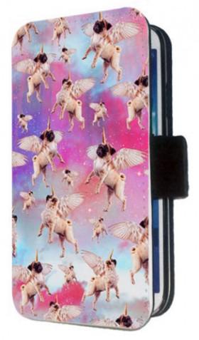 Unicorn Pug iPhone Flip Case