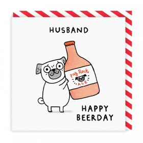 Funny Pug Husband Birthday Card By Gemma Correll