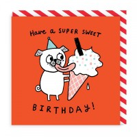 Cute Pug Birthday Card By Gemma Correll