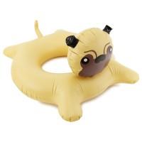Inflatable Pug Swim Ring