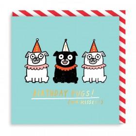 Trio Pugs Birthday Card By Gemma Correll