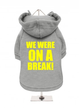 "Funny Friends 'We Were On A Break"" Fleece Lined  Unisex Hoodie  (Available in 4 colours)"