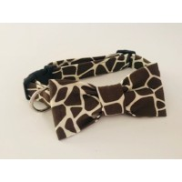 Unisex Giraffe Print Bow Tie