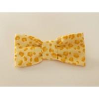 Unisex Lemon Leopard Print Bow Tie