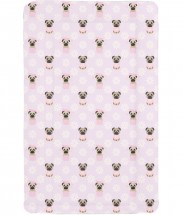 Cute Large Pug Baby Changing Mat