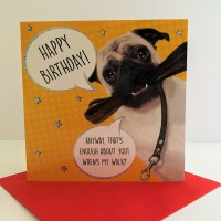 Cute & Funny Pug Birthday Card