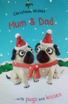 Extra Large Pug Mum & Dad Christmas Card