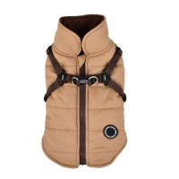 Puppia Beige Fleece Lined Mountaineer