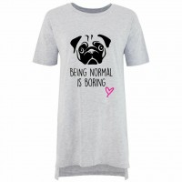 Funny & Cute Pug Over Sized Nightie
