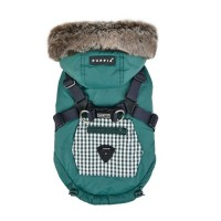 Puppia Hooded Fleece Lined Green Bellamy Coat