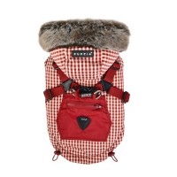 Puppia Hooded Fleece Lined Red Bellamy Coat