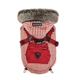Puppia Hooded Fleece Lined Red Bellamy Coat