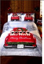 Cute Pug Christmas Duvet Set Double