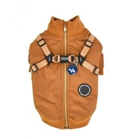 Puppia Tan Fleece Lined Dominic Coat