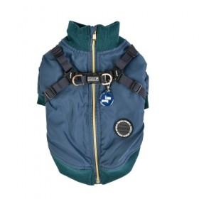 Puppia Teal Fleece Lined Dominic Coat