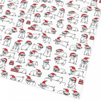 Large Thick Pug Christmas Gift Wrap Sheets By Gemma Correll