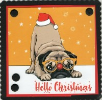 Festive Pug Novelty Christmas Card