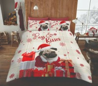 Hum Bug Pug Christmas Duvet Set King