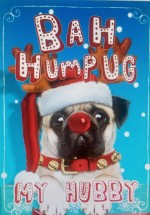 Small Pug Hubby Christmas Card