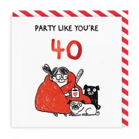 Party Like You're 40 Pug Card By Gemma Correll