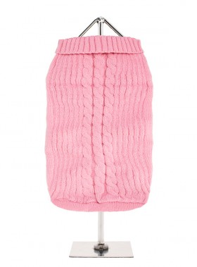 URBAN PUP LIGHT PINK CABLE SWEATER