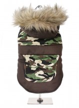 Urban Pup Camo Two Tone Parka Hooded Coat