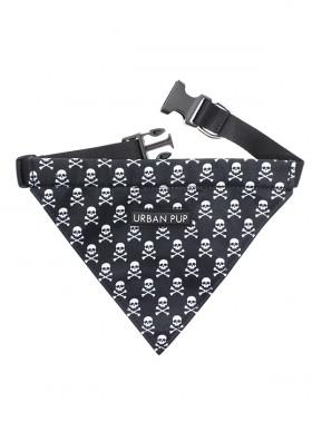 Urban Pup Black Skull Bandana