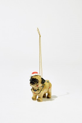 Cute Pug Christmas Decoration
