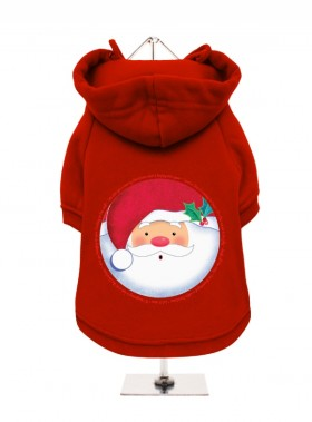 Cute Santa Christmas Fleece Lined Hoodie (Available in 5 colours)