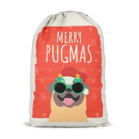 Merry Pugmass Extra Large Christmas Sack