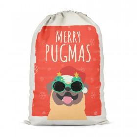 Merry Pugmass Extra Large Christmas Sack