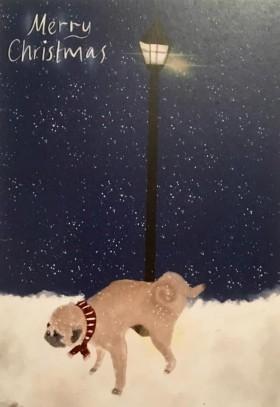 Cute & funny Pug Christmas Card