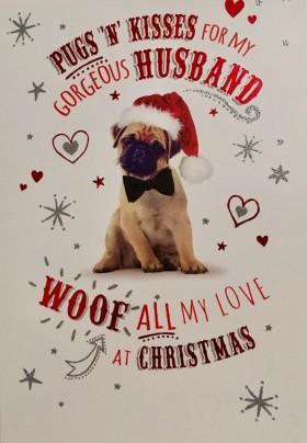 Large Husband Pug Christmas