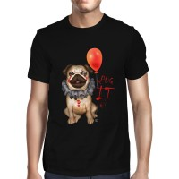 Mens Funny IT Pug  T-Shirt (Available in 3 colours)