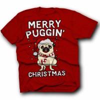 Festive Pug Unisex Christmas T Shirt