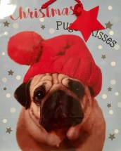 Medium Pug Christmas Gift Bag