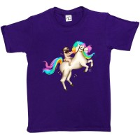 Child's Unicorn Pug T-Shirt (Available in 4 colours)
